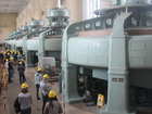 Turbines within a hydro power plant